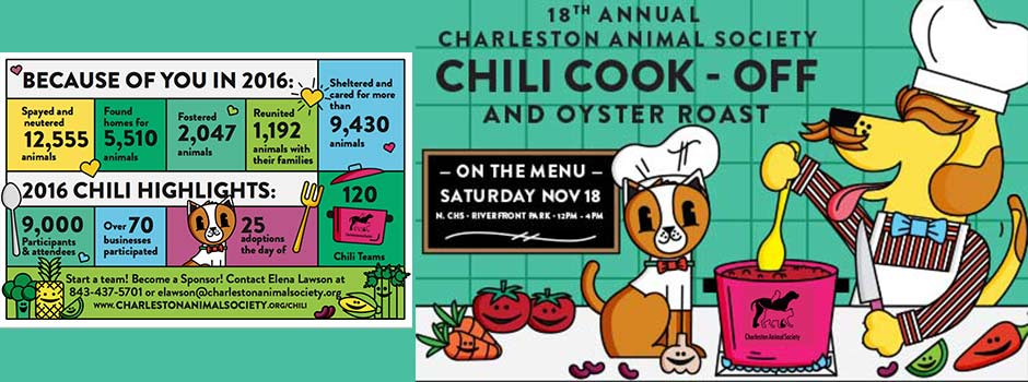 Charleston Animal Society's Annual Chili Cook-off and Oyster Roast