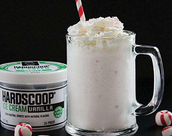 Hardscoop Distillery's Boozy Holiday Peppermint Shake