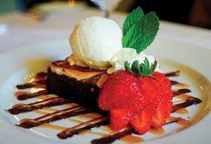 HGMI of Charleston's Cream Cheese Warm Pecan Brownie