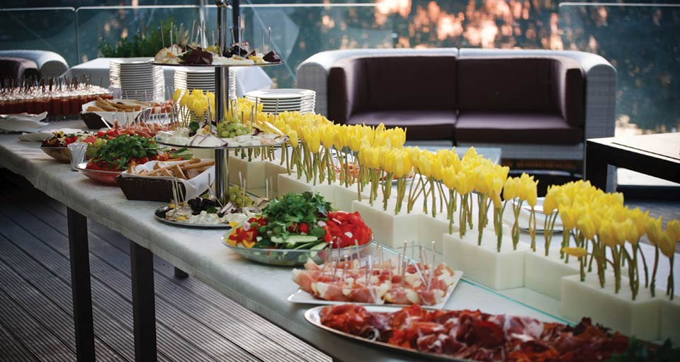 Well laid out tasty & beautiful catering eats, hungry yet?