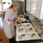 Lunch with Chef Laurie - cooking