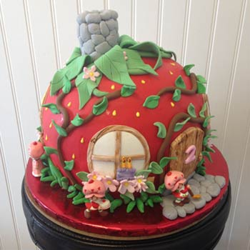 Bakies Mount Pleasant - whimsical strawberry shortcake birthday cake