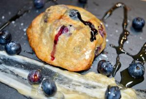 On the Move Blueberry Breakfast Biscuits With Cinnamon Honey Butter
