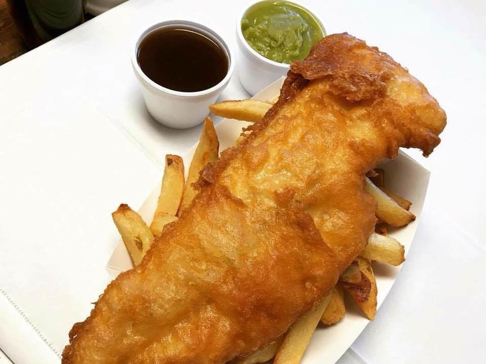 Proper fish & chips at The CODFather Proper Fish & Chips in North Charleston. Facebook @TheCODfatherchippy