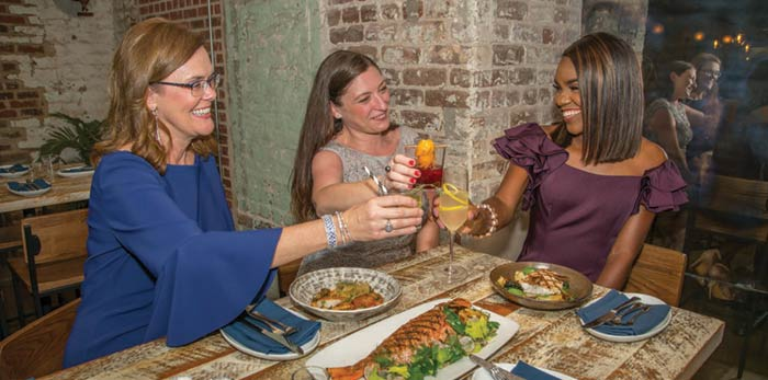 RAPPAHANNOCK OYSTER BAR: Deanne Roberts, anchor for News 2; Alana Morrall, director of development and marketing at ECCO; Stephanie Kelley, executive director of ECCO)