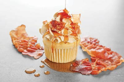 A maple bacon cupcake