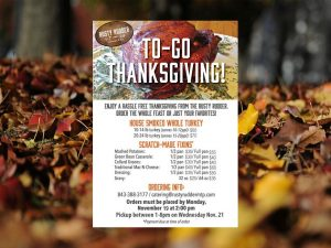 Rusty Rudder 2018 Take Home Thanksgiving