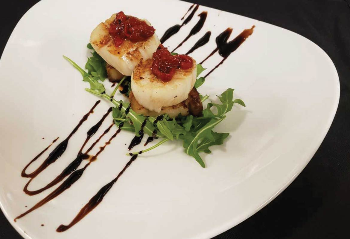 Scallops and Pork Belly by Chef Bill Rodimon, South Bay at Mount Pleasant