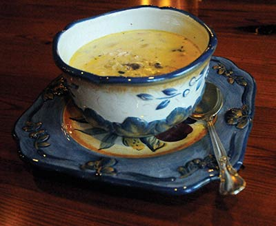 Gin-Gin's Chicken and Wild Rice Soup. Photo courtesy of Tanya Ackerman / Coastal Observer.