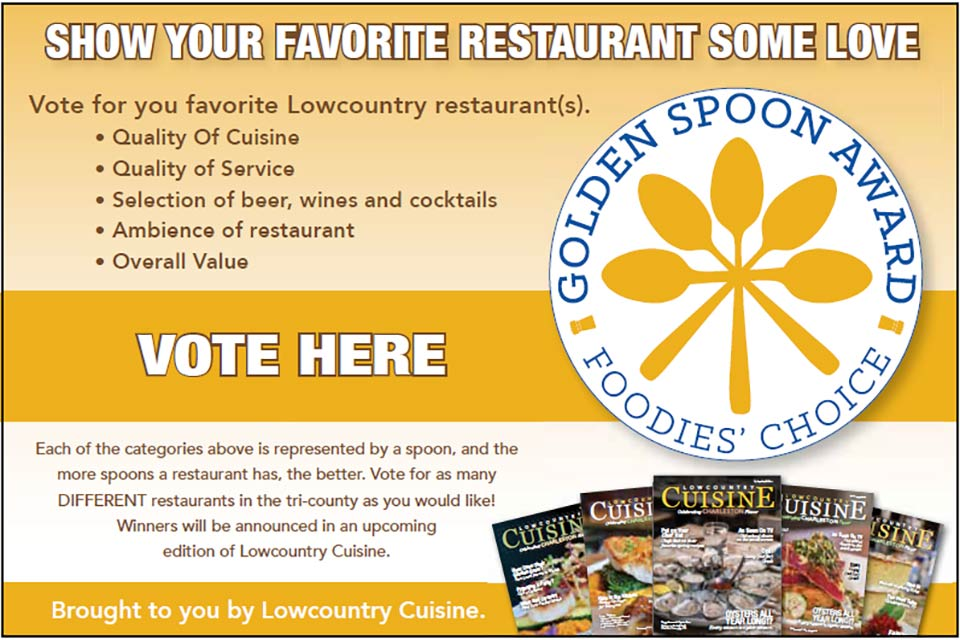 Show your favorite restaurant some love, vote in the Golden Spoon Awards.