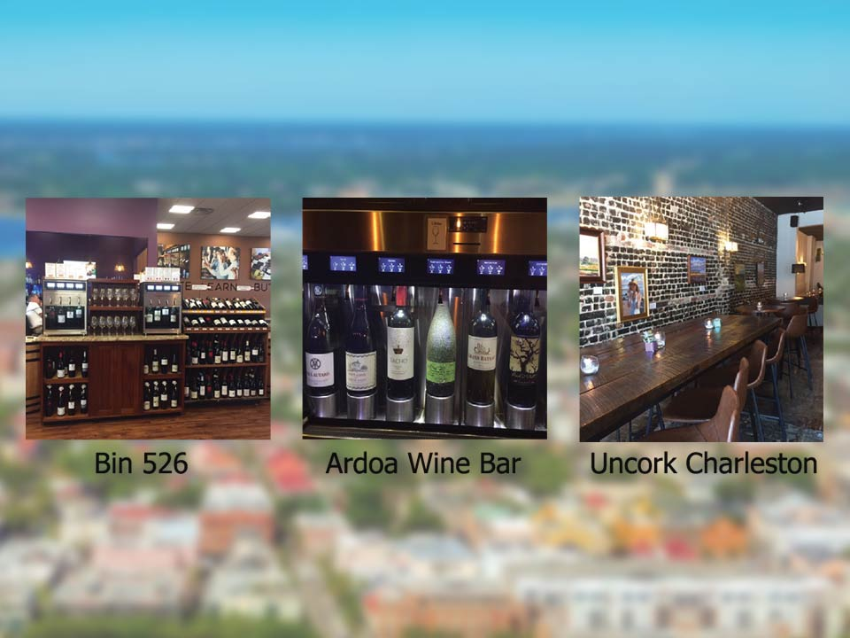 Charleston area pourable places - Self-Serve Wine Bars
