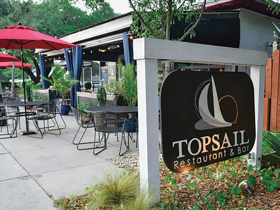 Topsail Restaurant Bar Nautical Themed Seafood Dishes