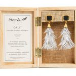 Brackish's new women's line of earrings and cuffs are made with hand-selected feathers, so no two pieces are exactly alike.