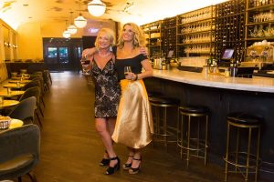Michele Hensel, left, and Kim Coleman were styled to the nines with clothing from II Brunettes.