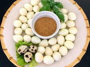 Quail Eggs with Seasoned Salt