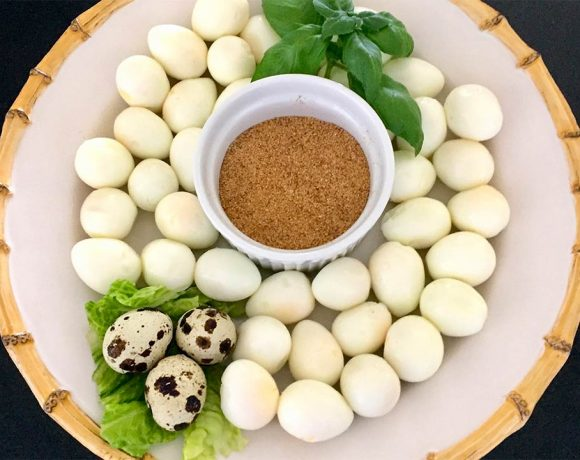 Quail Eggs with Seasoned Salt