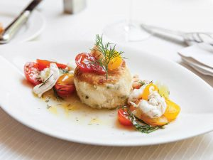 Crab Cakes: Charleston Grill, Executive Chef Michelle Weaver