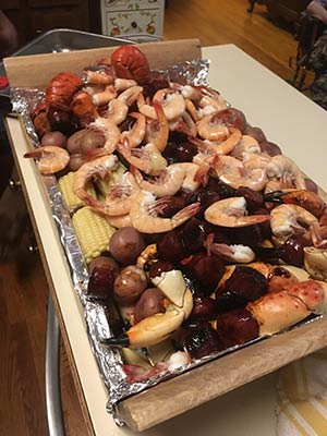 Donny James is known for his famous Hobcaw stew with stone crab claws and lobster tails.