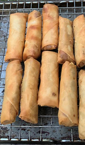 Proud cook Kevin McCrary whipped up these lumpia rolls for his family.