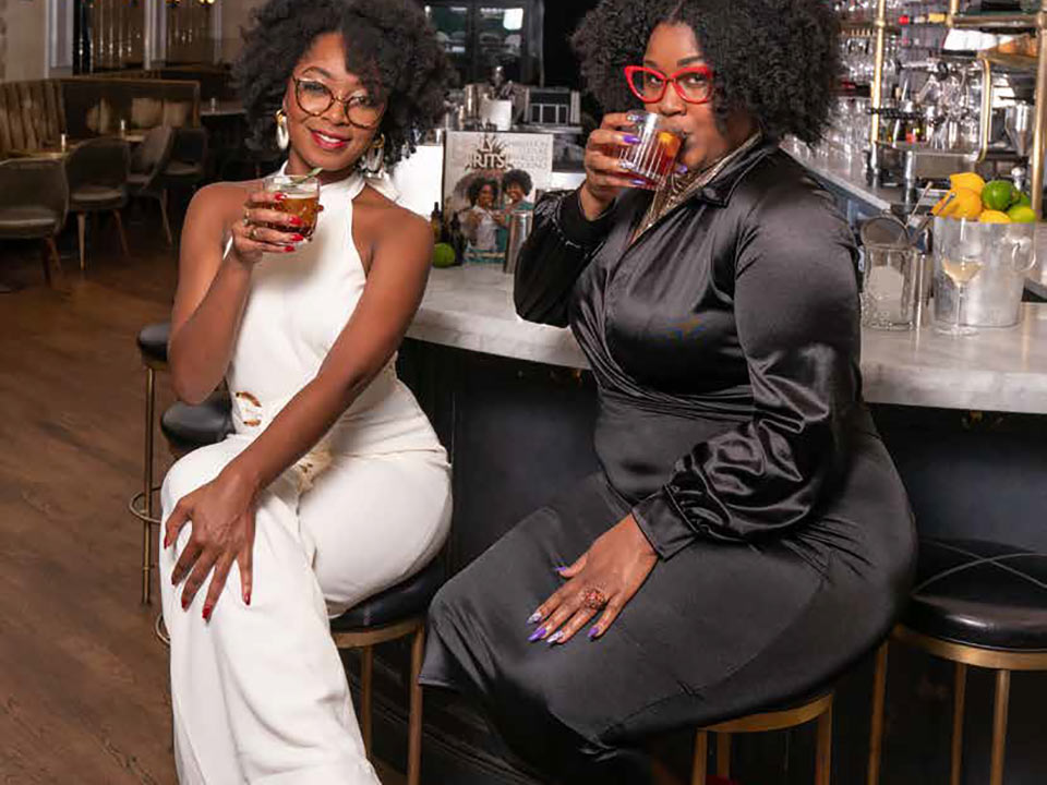 Taneka Reaves (left) and Johnny Caldwell (right) are the Cocktail Bandits.