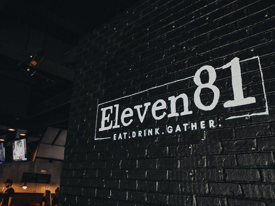 Eleven81 restaurant and upscale sports bar. in Mount Pleasant, South Carolina.